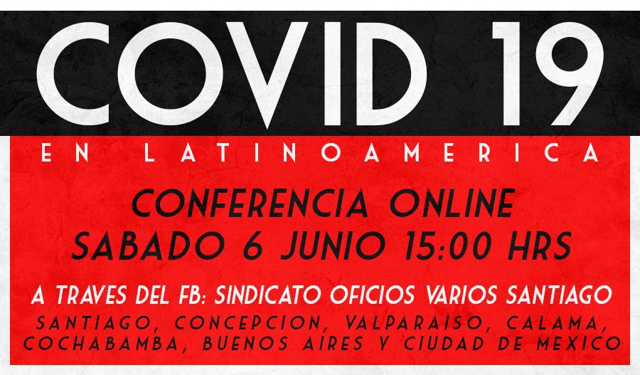 Éste sábado! Conferencia Online: Covid-19 en Latinoamérica