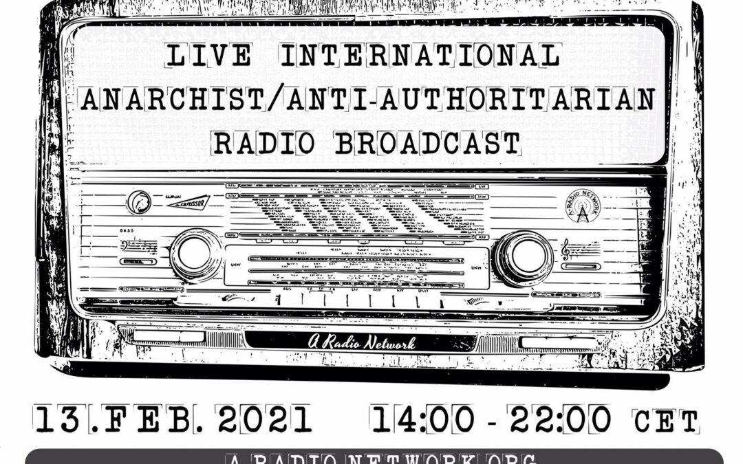 Transmisión en vivo de la Red Internacional de Radios Anarquistas