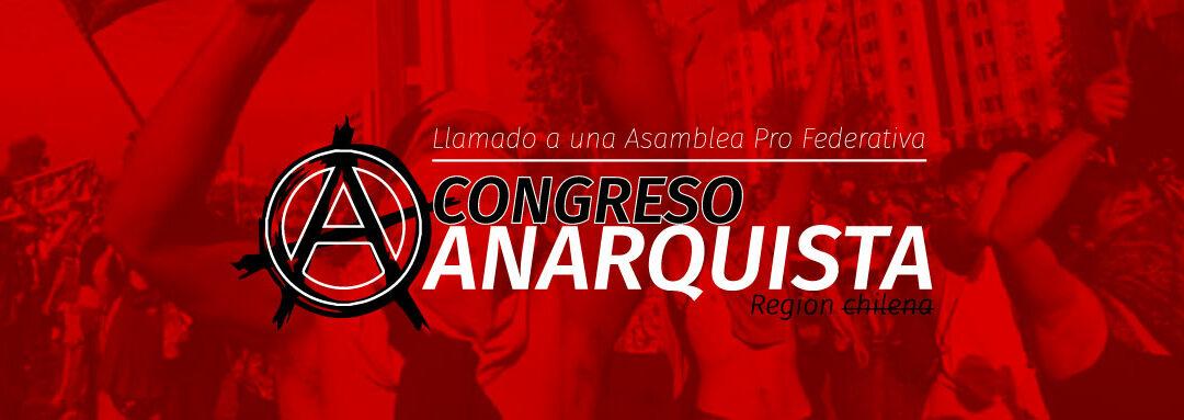 Inician proceso para un Congreso Anarquista en Chile